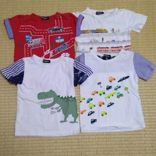 kladskap - クレードスコープ 半袖 Tシャツ 110 トミカ コラボ 電車 恐竜 車
