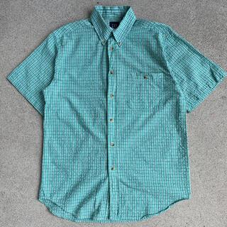 ギャップ(GAP)の90s 古着 oldgap オールドギャップ チェックシャツ 半袖シャツ(シャツ)