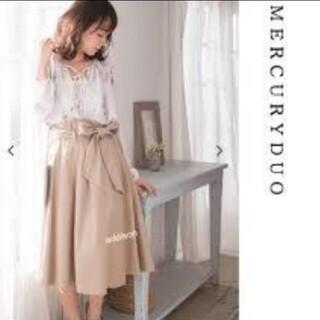 マーキュリーデュオ(MERCURYDUO)のウエストリボンスカート(ひざ丈スカート)