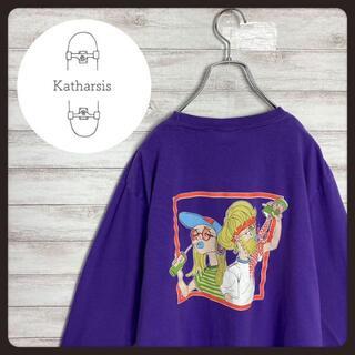 【入手困難】レフトアローン ワンポイント バックプリント パープル ロンT(Tシャツ/カットソー(七分/長袖))
