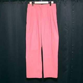 BARNEYS NEW YORK - 美品 バーニーズニューヨーク  ワイド スラックス タック ウエストゴム ピンク