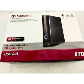 トランセンド(Transcend)の中古 トランセンド 外付けHDD 8TB TS8TSJ35T3 ハードディスク(PCパーツ)