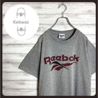 リーボック(Reebok)の【USA製】90s リーボック プリント ベクターロゴ グレー Tシャツ(Tシャツ/カットソー(半袖/袖なし))