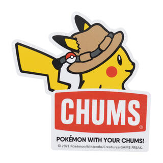 チャムス(CHUMS)の【新品】CHUMS × ピカチュウ ステッカー(その他)