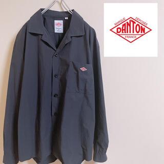 DANTON - DANTON ダントン オープンカラーシャツ ネイビー 長袖