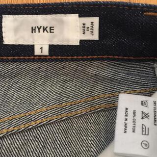 ハイク(HYKE)の未使用☆ HYKE 伊勢丹限定 デニムスカート サイズ1 リジットデニム(ひざ丈スカート)