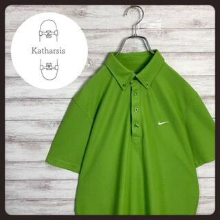 ナイキ(NIKE)の【希少カラー】ナイキ ワンポイント刺繍ロゴ ビックサイズ ポロシャツ(ポロシャツ)