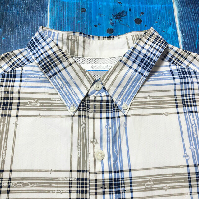 Columbia(コロンビア)の【コロンビア】PFGフィッシングライン柄格子柄チェック半袖フィッシングシャツ メンズのトップス(シャツ)の商品写真