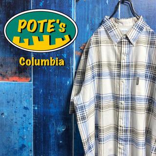 Columbia - 【コロンビア】PFGフィッシングライン柄格子柄チェック半袖フィッシングシャツ