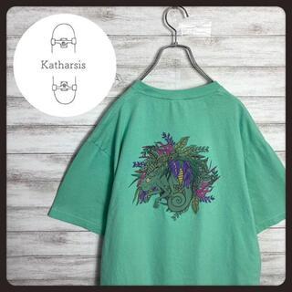 【入手困難】レフトアローン バックプリント ミントグリーン Tシャツ(Tシャツ/カットソー(半袖/袖なし))