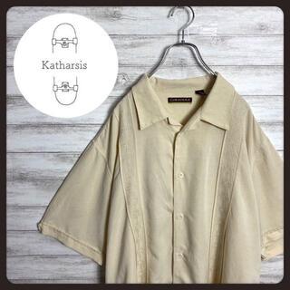 【入手困難】90s キューバシャツ オープンカラー ベージュ ビックサイズ(シャツ)