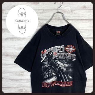 【USA製】90s ハーレーダビッドソン プリント デカロゴ Tシャツ(Tシャツ/カットソー(半袖/袖なし))