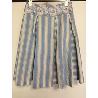 ジェーンマープル(JaneMarple)のJane Marple Dans Le Salon ストライプ スカート(ひざ丈スカート)