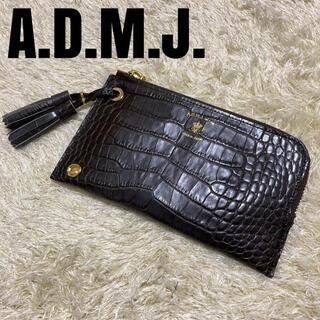 A.D.M.J. - 【新品】A.D.M.J.  長財布 ウォレット クロコダイル型押し