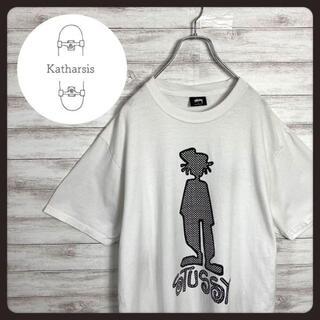 ステューシー(STUSSY)の【入手困難】ステューシー シャドーマン デカロゴ ビックサイズ Tシャツ(Tシャツ/カットソー(半袖/袖なし))