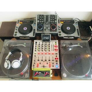最終値下&出品【引取限定】DJ機材フルセットSL1200MK3,CDJ,ミキサ他(ターンテーブル)