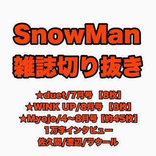 SnowMan切り抜き(アイドルグッズ)