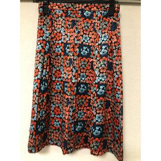 マークジェイコブス(MARC JACOBS)のマークジェイコブス 花柄シルクスカート(ひざ丈スカート)
