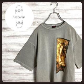 グラミチ(GRAMICCI)の【USA製】90s グラミチ グレー プリントロゴ ビックサイズ Tシャツ(Tシャツ/カットソー(半袖/袖なし))