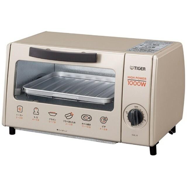 TIGER(タイガー)のKAL-A100 オーブントースター スマホ/家電/カメラの調理家電(調理機器)の商品写真