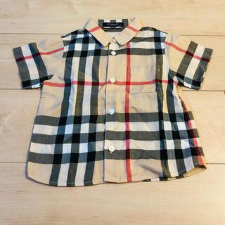 BURBERRY - 90㎝【未使用】バーバリーロンドンノバチェック半袖シャツ