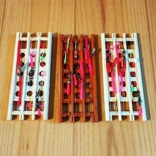 ハンドメイド釣り仕掛け① 2本針 9本(釣り糸/ライン)