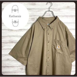 カーハート(carhartt)の【入手困難】カーハートFRライン ベージュ ビックサイズ ワークシャツ(シャツ)