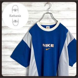 ナイキ(NIKE)の【入手困難】90sナイキ スウォッシュ センターロゴ ビックサイズ ゲームシャツ(Tシャツ/カットソー(半袖/袖なし))