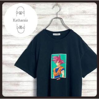 【入手困難】フラグスタフ ドラゴンボール悟空 プリントロゴ ブラック Tシャツ(Tシャツ/カットソー(半袖/袖なし))