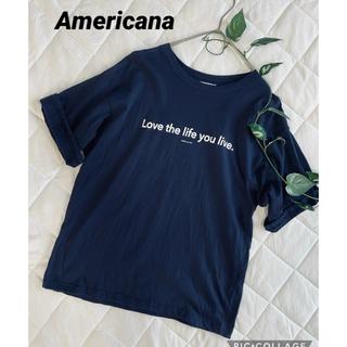 AMERICANA - アメリカーナ ロゴTシャツ