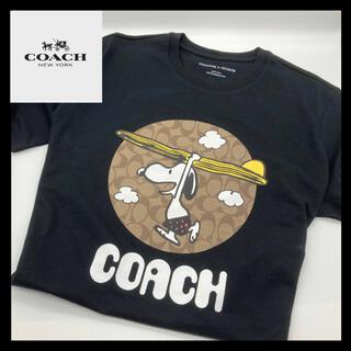 コーチ(COACH)の【送料無料】コーチCOACHスヌーピーTシャツ ブラック Mサイズ(Tシャツ/カットソー(半袖/袖なし))
