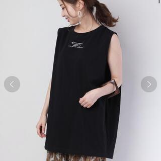 フーズフーチコ(who's who Chico)のwho's who chico 変形ノースリロゴ刺繍Tシャツ(Tシャツ(半袖/袖なし))