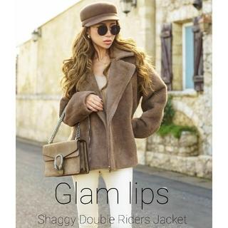 新品 Glam lips グラムリップス シャギーライダースジャケット