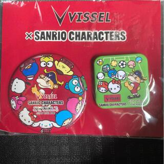 サンリオ(サンリオ)のヴィッセル×sanriocharacter缶バッジセット(バッジ/ピンバッジ)