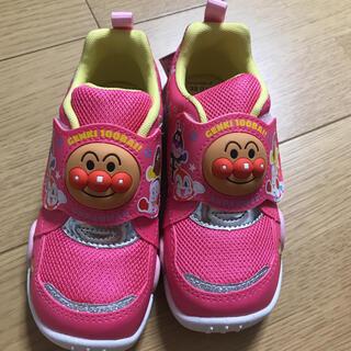 タグ付き新品 ムーンスター アンパンマン 靴 ピンク 17センチ