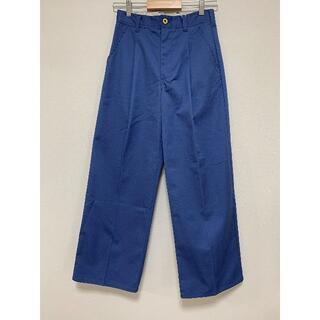 テチチ(Techichi)の【lugnoncure】ワイドパンツ・パンツ・チノ ブルー Mサイズ(カジュアルパンツ)