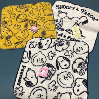 スヌーピー(SNOOPY)の値下げ 新品 スヌーピータオルハンカチ ハンドタオル 3枚セット (ハンカチ)