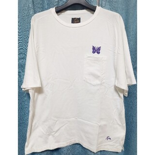 ニードルス(Needles)のNeedles パピヨン刺繍 コットンTシャツ 美品 サイズM(Tシャツ/カットソー(半袖/袖なし))