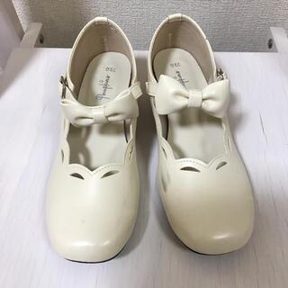 ポプキンズ フォーマルシューズ 女の子 フォーマル靴 22センチ(フォーマルシューズ)