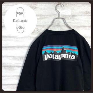 パタゴニア(patagonia)の【入手困難】パタゴニア ワンポイント バックプリント ブラック ロンT(Tシャツ/カットソー(七分/長袖))