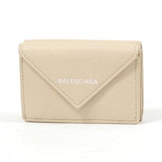 バレンシアガ(Balenciaga)のBALENCIAGA バレンシアガ ペーパーミニウォレット ベージュタピオカ (折り財布)