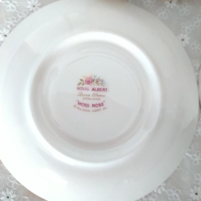 ROYAL ALBERT(ロイヤルアルバート)の[英国製] ロイヤル アルバート・モスローズ ティーカップ&ソーサー インテリア/住まい/日用品のキッチン/食器(食器)の商品写真