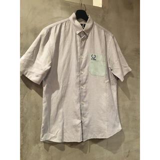 ラフシモンズ(RAF SIMONS)のraf simons × FRED PERRY 切り替えシャツ 38(シャツ)