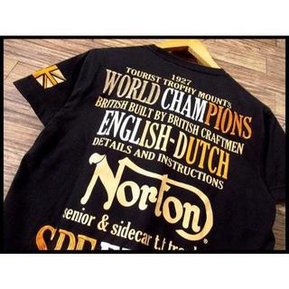 ノートン(Norton)のG① Norton ノートン 豪華 刺繍 モーターサイクル 半袖 Tシャツ M(Tシャツ/カットソー(半袖/袖なし))