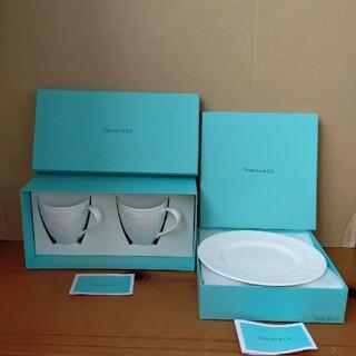 Tiffany & Co. - 未使用 ティファニー テラスマグカップ 2個とテラスプレート2枚セット