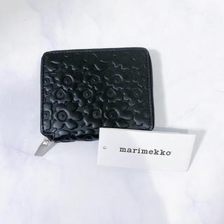 マリメッコ(marimekko)のマリメッコ 黒 レザー ウニッコ 財布(財布)