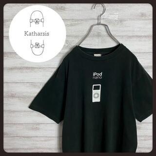 【非売品】90s アップル iPodアイポッド センターロゴ ブラック Tシャツ(Tシャツ/カットソー(半袖/袖なし))
