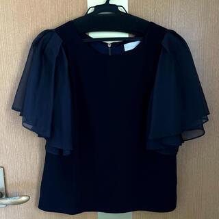 トランテアンソンドゥモード(31 Sons de mode)の31 ソン ドゥ モードのネイビーブラウス(シャツ/ブラウス(半袖/袖なし))
