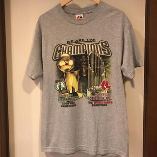 マジェスティック(Majestic)のBoston Celtics & Boston Red Sox vintage(Tシャツ/カットソー(半袖/袖なし))