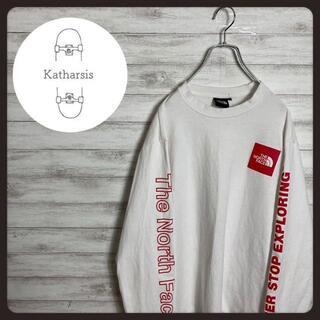【入手困難】ノースフェイス バックプリント スリーブロゴ Tシャツ ロンT(Tシャツ/カットソー(七分/長袖))